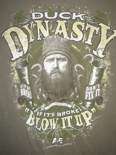 Duck Dynasty mens sz Lg t-shirt army green Jase Robertson If Broke BLOW it UP #DuckDynasty #GraphicTee
