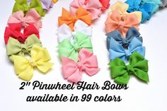 Baby Girl Hair Bows Small Hair Bows Toddler Hair by YourFinalTouch