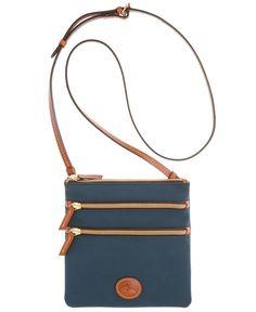 Dooney & Bourke North South Triple Zip Nylon Crossbody - Handbags & Accessories - Macy's Navy please!