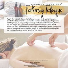 Very Helpful Aromatherapy Massage Strategies For raindrop massage therapy Yl Essential Oils, Therapeutic Grade Essential Oils, Young Living Essential Oils, Essential Oil Blends, Yl Oils, Raindrop Technique, How To Calm Nerves, Massage Treatment, Massage Benefits