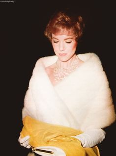Julie Andrews at premiere of Mary Poppins