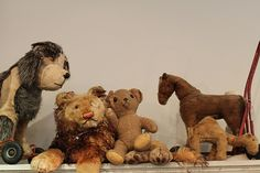 some well loved stuffed toys