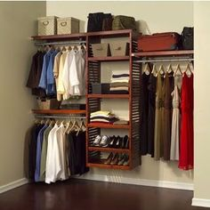 John Louis Home Collection Red Mahogany Deluxe Closet System #closetsystem