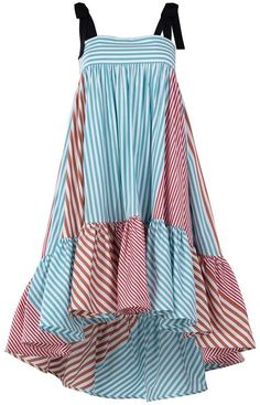 Silvia Tcherassi Calantha Dress in Red/Blue Stripes Dress Outfits, Dress Up, Street Style Shop, Maxi Robes, Summer Outfits, Summer Dresses, Red Stripes, Red And Blue, My Style