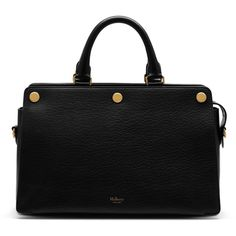 Mulberry Chester ($1,850) ❤ liked on Polyvore featuring bags, handbags, black, mulberry bag, structured bag, structured handbag, mulberry handbags and mulberry purse