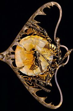Wasps Stickpin By Rene Lalique Circa 1898-1899 ♦️More Like This At Fosterginger @ Pinterest♦️