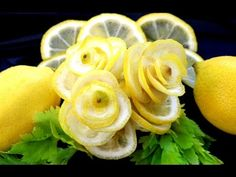 Art In Lemon Rose Flower | Fruit and Vegetable Carving Garnish | Food Decoration by ItalyPaul - YouTube