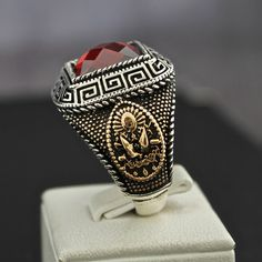 Sterling Silver Great Ottoman Sultan's Ring by KaraJewelsTurkey