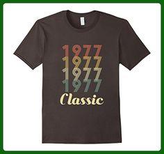 Mens 40th Birthday Vintage Gift - Classic 1977 Novelty T Shirt Medium Asphalt - Birthday shirts (*Amazon Partner-Link)