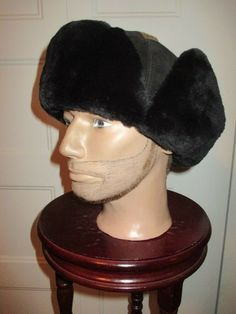 7b737206af608f NEW WONDERFULL BLACK SHEARED BEAVER FUR & SUEDE MEN HAT FLIP FLAP AVIATOR  (b33 #fashion #clothing #shoes #accessories #mensaccessories #hats (ebay  link)