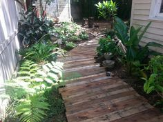 Ordinarily we've been discussing garden plan. however, very few times the garden pathways were our subject and theme for article. I surmise this is something [. Wood Pathway, Pallet Walkway, Gravel Walkway, Wooden Walkways, Outdoor Walkway, Outdoor Decor, Garden In The Woods, Garden Pictures, Wooden Garden