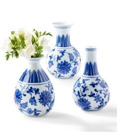 blue small bud vase