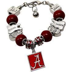 Alabama Crimson Tide Charm Bracelet  - Crimson