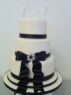 Wedding Cake- goes perfect with the red, black, and pearl/bling theme