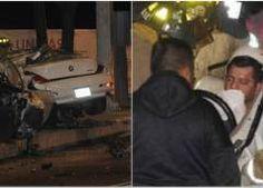 Gana mil pesos y es paletero pero se estrelló en un BMW