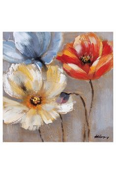 x Amaryllis Painting On Canvas Mais