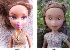 Pour qu'elles ressemblent à de vraies petites filles, une maman a décidé de démaquiller les poupées Bratz de sa fille.