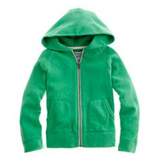 Boys' french terry zip hoodie: J. Crew