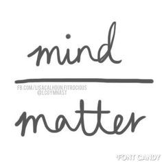 Let your mind have control. It's all about what you tell yourself.  http://tinyurl. com/LCFITStayConsistent