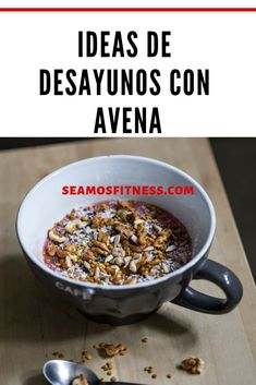 Healthy Life, Cereal, Oatmeal, Vegan Recipes, Food Porn, Appetizers, Tasty, Cooking, Breakfast