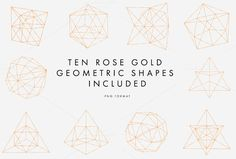 Rose Gold Geometric Pattern by Aylin Marie Designs on @creativemarket