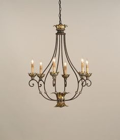 Bronze Up Chandelier : 9947 | Timberlake Lighting