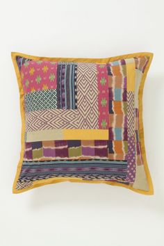Abstract Ikat Pillow, Large - Anthropologie.com