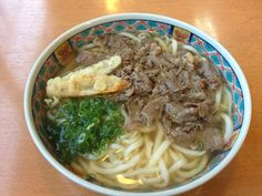 肉 ごぼう うどん (Japanese Udon)