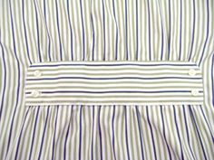 Mens Stripe Shirt Refashion - at bottom of website for tutorial upcycle repurpose Diy Clothing, Sewing Clothes, Remake Clothes, Umgestaltete Shirts, Diy Vetement, Altering Clothes, Recycled Fashion, Diy Shirt, Men's Shirt Refashion