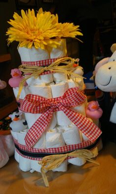 Farm themed diaper cake