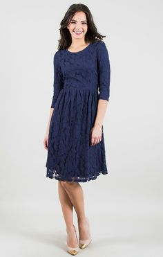 Leafy Lace Dress.. Great modest dress for teenager girl (or mom) for the holidays