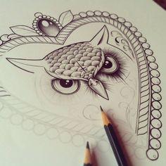 I fucking love this tattoo. Amazing owl line art with shadow tattoo inspiration - #tattoo #owl #lineart - C x I x D in progress by ~EdwardMiller on deviantART