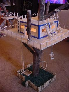 15 Homemade Popsicle Stick House Designs - Hative on We Heart It