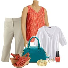Summer Work - Plus Size, created by tajarl on Polyvore