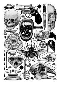 Tattoo designs drawings inspiration illustrations 52 Ideas for 2019 Flash Art Tattoos, Tattoos 3d, Tattoo Flash Sheet, Body Art Tattoos, Small Tattoos, Arabic Tattoos, Dragon Tattoos, Sleeve Tattoos, Tatoos