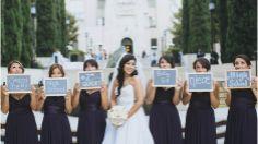 @Cassie Jimenez Cute bridesmaid idea! LA Athletic Club Wedding Los Angeles Downtown Library St Vincent de Paul-26