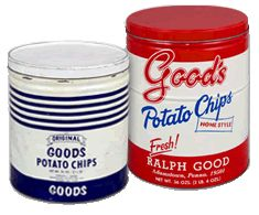 Tins vintage potato chip