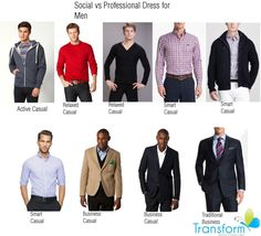 """Social vs Professional Image for Men"" by transform-image-consulting on Polyvore"