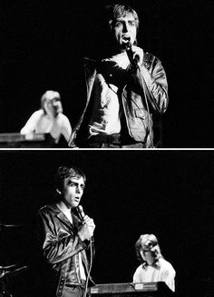 Peter Gabriel and Tony Banks onstage