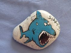 Image result for shark painted rock