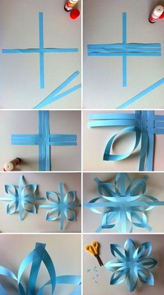 School Decorations Paper Christmas Decorations New Years Decorations Christmas Diy Christmas Ornaments Paper Crafts Origami Diy Paper Xmas Crafts Fun Crafts Paper Christmas Decorations, Christmas Paper Crafts, Paper Ornaments, Holiday Crafts, Frozen Party Decorations, Snowflake Decorations, Kids Crafts, Diy Arts And Crafts, Diy Weihnachten Papier