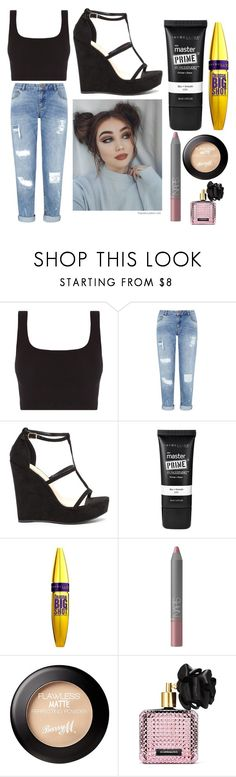 """""""Summer Outfit: Lay"""" by scarletpeak ❤ liked on Polyvore featuring Miss Selfridge, Maybelline, NARS Cosmetics and Victoria's Secret"""