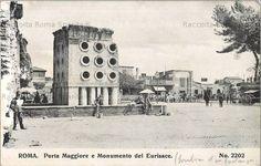 Foto storiche di Roma - Piazza di Porta Maggiore. In primo piano il sepolcro del fornaio Eurisace