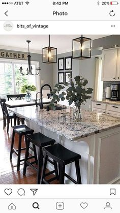 Supreme Kitchen Remodeling Choosing Your New Kitchen Countertops Ideas. Mind Blowing Kitchen Remodeling Choosing Your New Kitchen Countertops Ideas. White Kitchen Cabinets, Kitchen Redo, Kitchen Countertops, Kitchen Cabinetry, Kitchen Sinks, Kitchen Islands, Kitchen Paint, Laminate Countertops, Dark Cabinets