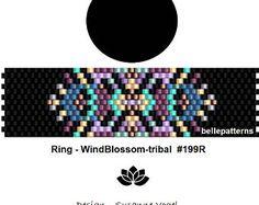 peyote ring pattern,PDF-Download, #199R, beading pattern, beading tutorials, ring pattern