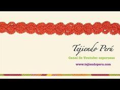 Cenefa para aplicar en crochet # 1 - YouTube