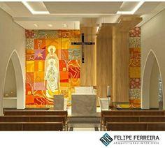 Capela São José - Cláudio Pastro Sacred Architecture, Church Architecture, Religious Architecture, Modern Architecture, Modern Church, Church Interior, Church Design, Church Building, Place Of Worship