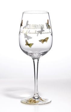 A28233 Style & Gracie Celebration Wine Glass- Celebration Wine Glass a perfect gift for anyone who is celebrating a special occasion #Enesco #WineGlass #Beauty
