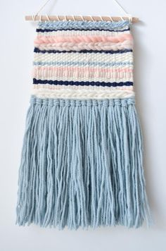 Modern tapestry, minimalist woven wall hanging, handwoven wall decor, pastel home decor, ready to sh Woven Wall Hanging, Tapestry Wall Hanging, Wall Hangings, Loom Weaving, Hand Weaving, Pastel Home Decor, Modern Tapestries, Pastel House, Diy Bookmarks