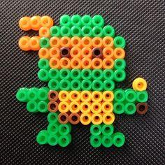 TMNT Michelangelo perler beads by abilich1204